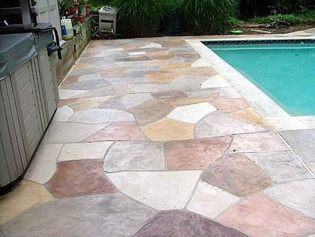 Concrete Overlay Pool Deck In Damascus